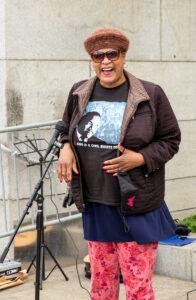 Ms Billie Cooper at trans rally